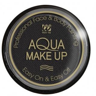 TOP PROFESSIONAL WASSER AQUA MAKE UP 15 g schwarz Schminke f. Gesicht u. Körper