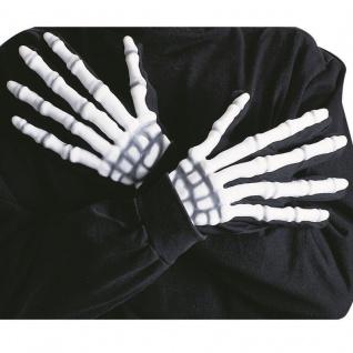 SKELETT HANDSCHUHE - Sensenmann Tod Halloween Verkleidung Kostüm #8413