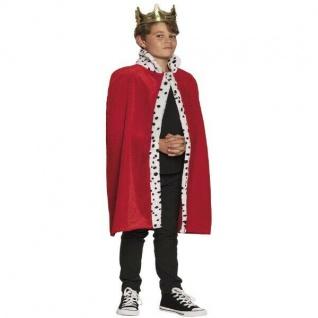 Königs König Mantel für Kinder Umhang Cape Königsumhang Königsmantel Kostüm #610