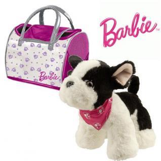 Barbie Plüsch Hund BULLDOGGE 21cm MIT TASCHE Plüschtier Stofftier Kuscheltier - Vorschau