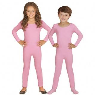 Einteiler Kinder Body Overall Jumpsuit lang Sport rosa Langarm Kostüm 116-152