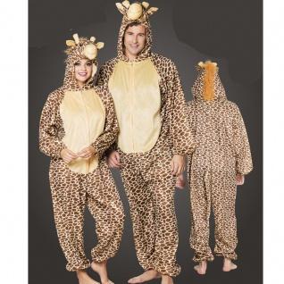 GIRAFFE Plüsch Kostüm - Overall Damen und Herren Jumpsuit Junggesellenabschied