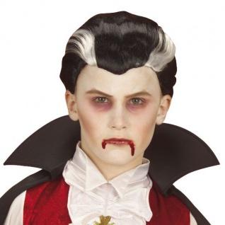 KINDER VAMPIR DRACULA PERÜCKE Halloween Wig Vampirperücke Kinderperücke 278V