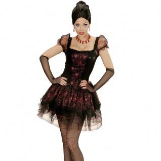 Sexy Damen Kostüm Vampir Lady 38/40 (M) VAMPIRESSA Gothic Hexe Spinnen Kleid 442