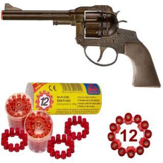 Western SUPER COWBOY Pistole + 240 Schuss Kinder Spielzeug Revolver METALL