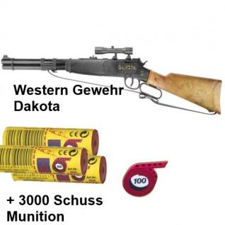 DAKOTA Western Gewehr mit 3000 Schuss Munition Kinder Spielzeug Cowboy Indianer