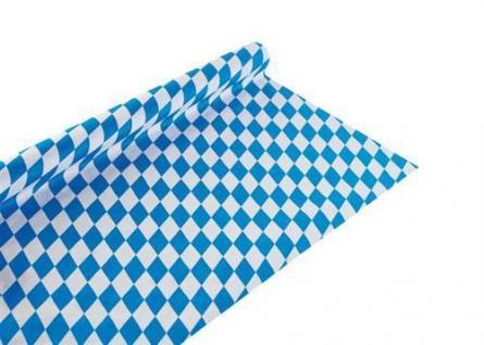 8 m x 100 cm Papier Tischdecke Bayerische Raute - Oktoberfest - Bayern