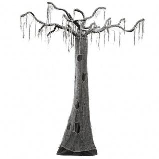 verhexter GRUSEL BAUM Höhe ca.280 cm Halloween - hänge-Deko grau-schwarz #4893