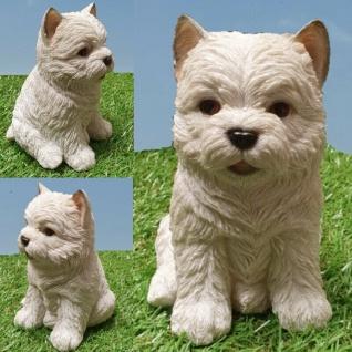 BASSET Deko Figur Hush Puppy Baby lebensecht HUND SKULPTUR GARTEN STATUE