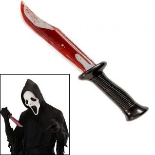 BLUTIGES MESSER - Halloween Kostüm Zubehör Killer Dolch #6695 Karneval Fasching