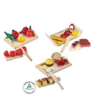 HOLZ Obst Gemüse Brot zum Schneiden Kinderküche Kaufmannsladen KaufladenZubehör