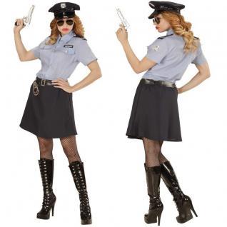 Polizistin Lady Streifenpolizistin Damen Kostüm - Karneval Fasching Gr. S - XL