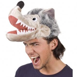 Lustiger Party Hut Tier Mütze - Wolf - Moto Party Karneval Fasching #9948