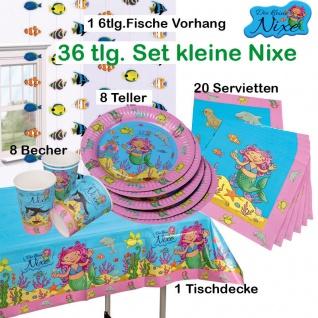 38 tlg. Set kleine Nixe Meerjungfrau Kinder Geburtstag Teller Becher Servietten