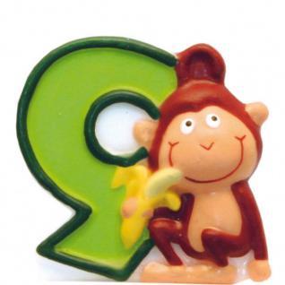 Kerze 9 Safari Tiere - Geburtstagskerze - Dschungel - Zahlenkerze Kinder Motive