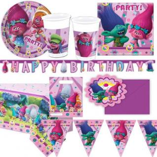 TROLLS - Alles für die Kinder Geburtstag Party Deko - Dreamworks Geschirr