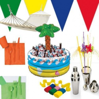Beachparty Deko Party Starndparty Motto Strand Beach Set