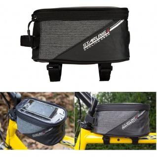 FAHRRADTASCHE Rahmentasche Handy Oberrohrtasche Smartphone Tasche schwarz