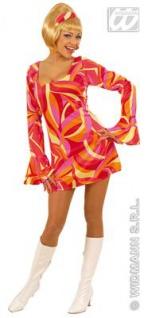HIPPIE KLEID ROT 70er Jahre Stil Gr.S 34 36 Damen Kostüm Fasching Karneval
