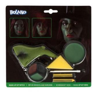Schminkset Hexe Maske Schminke Halloween Fasching Make-up Hexennase 45081