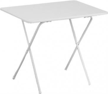 Scherentisch Campingtisch Weiß 60x80 cm Tisch Garten Möbel Camping Eckig