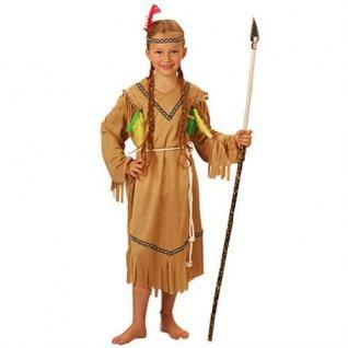 INDIANERIN KINDER KOSTÜM Karneval Fasching Indianerin Indianer 116/122