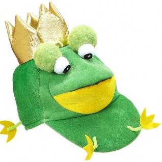 FROSCHKÖNIG MÜTZE Kostüm Frosch Froschkostüm Märchen Tier Kostüm Zubehör #5850
