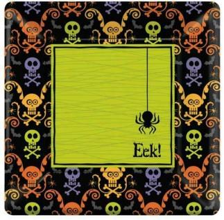 Halloween Teller Chills and Thrills 8Stk. 25 cm Deko