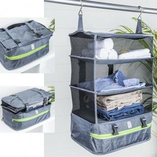 Organizer zum Aufhängen - grau - Hängeschrank Reisetasche Camping Aufbewahrung