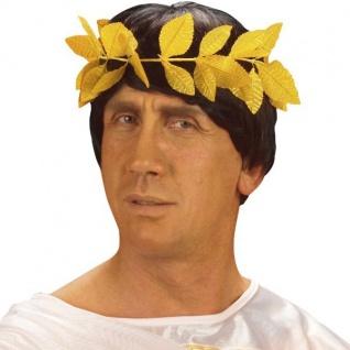 LORBEERKRANZ GOLD Siegerkranz Julius Cäsar Römer Imperator Kostüm Zubehör #3282