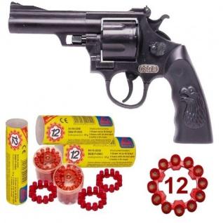 Agent GSG 9 Knall-Pistole mit 720 Schuss Munition Kinder Spielzeug Revolver