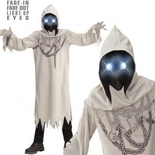 GEIST in Ketten mit leuchtenden Augen Gr. 164 Kinder Kostüm Tod Halloween #889