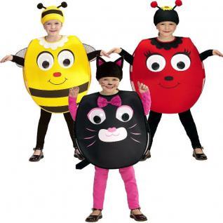 Kinder Kostüm mit Riesenaugen - Katze, Marienkäfer, Biene - Kleinkinder 2-4 J.