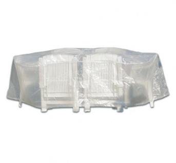 Profiline Schutzhülle Transparent 230x135x75 cm Möbelschutz Oval Sitzgruppen