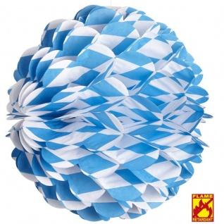 4 X WABENBALL Bayern Oktoberfest Wiesn Girlande Deko flammhemmend #2513