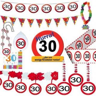 Geburtstagsdeko 30. Geburtstag Verkehrsschild Party Zubehör Dekoration Deko