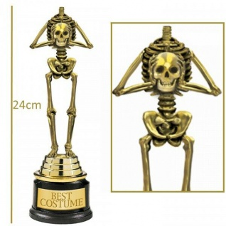 SKELETT POKAL Preis für Halloween Kostüm - Best Costume - Karneval GAG #34711