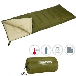 XXL Deckenschlafsack Schlafsack Outdoor Camping Abbey Camp® - grün/Sand (21NK) - Vorschau