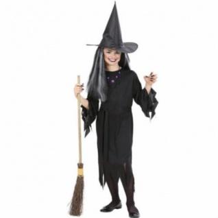 TOP Kinder Hexenkostüm 140 8-10 J. Kostüm Hexe Zauberin Magierin Halloween