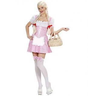 Damen Kostüm Dirndl Miss Muffet rosa Oktoberfest Bayern Gr. S, M, L, XL