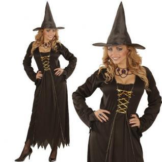 Cassie Hexen Kleid mit Hut Halloween Damen Kostüm Hexe Karneval Fasching NEU