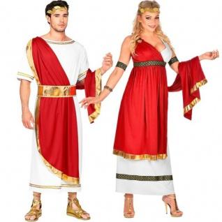 Römischer Kaiser und Kaiserin Damen und Herren Partner Kostüm Cäsar Römer