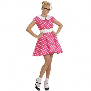 Fifties Petticoat Kleid 50er Jahre Rock´n Roll pink Damen Kostüm S, M, L (5831)