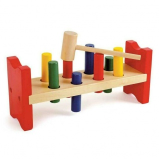 Klopfbank für Kinder Spielzeug Holz Hammer Motorik Kleinkind ab 18 Monaten