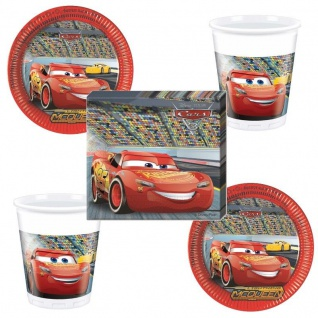 Disney CARS Party Set 16 x Becher 20 x Servietten 16 x Teller Kinder Geburtstag