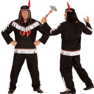 INDIANERKOSTÜM Western Sioux Apache Indianer Herren Kostüm braun S M L XL