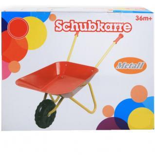 Kinderschubkarre Metall Schubkarre für Kinder Farbe rot Gelb
