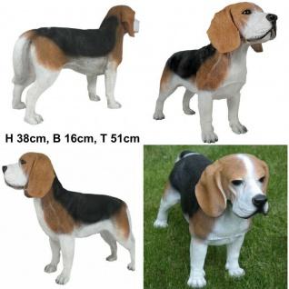 Deko Figur Hund Beagle Tierfigur Skulptur Haushund Garten Deko 2289