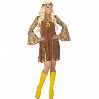 Hippie Girl Gr. S (34/36) Flower Power 70er 60er Jahre Damen Kostüm #0652