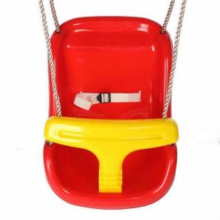 Schaukelsitz Babyschaukel 2 in 1 Babysitz Kinderschaukel (Rot-Gelb) Schaukel